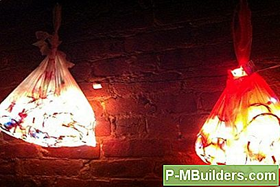 Upcycled Shopping Bag Lights